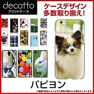 PRADA Phone L-02D *智能手机壳 【 动物03 花纹 】 [透明(透明) 壳]cpc-l-02d-anfca0d6 蝴蝶犬