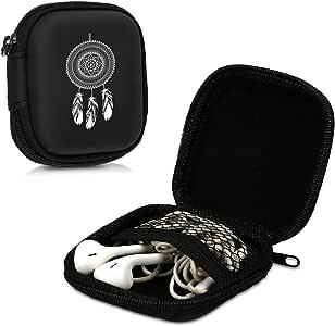 kwmobile 硬质手机壳用于头戴式耳机,黑色保护壳,专为头戴式耳机设计41739.11_m000399