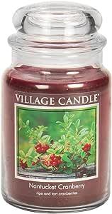 Village Candle Nantucket 蔓越莓 311.84 毫升玻璃罐香味蜡烛 *红色 Large (26 oz) 106026372