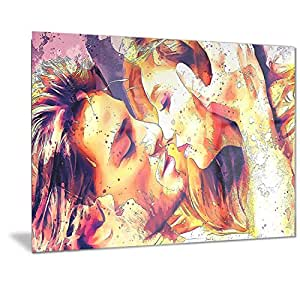 "Designart Hold me Now 28x12"" MT2918-28-12"