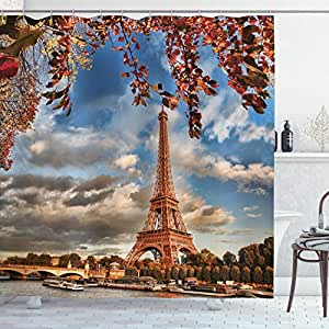 ambesonne 家居装饰系列涤纶面料浴室浴帘122cm x 183