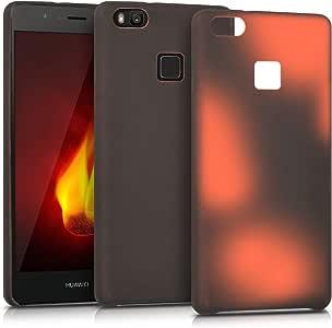 kwmobile TPU 硅胶手机壳适用于华为 P9 Lite - 水晶透明智能手机背壳保护壳 - 白色/透明41831.01_m000526 .black red
