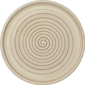 Villeroy & Boch 的 Artesano 自然漂浮浮床/披萨板 - 优质瓷器 - 德国制造 - 可用于洗碗机和微波炉 - 31.75 厘米 米色 10-4862-2590