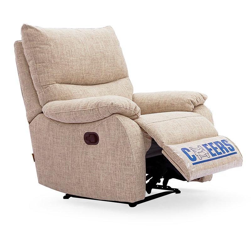 Cheers 芝华仕 头等舱 功能沙发布艺单人 手动可趟 小户型客厅沙发 K106卡其色
