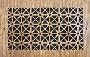 图案切割木格栅:2006 用于壁式开口(厘米)= 50.8 x 6,总尺寸(厘米)= 54.61 x 19.05 厘米,橡木,图案 D