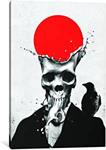 iCanvasART AGC36-1PC6-26x18 Splash Skull Canvas Print by Ali Gulec, 1.5 by 18 by 26-Inch