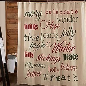 季节性浴帘 Christmas Day Christmas Day Shower Curtain
