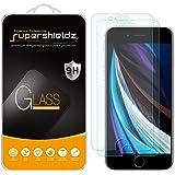 [2 件装] Supershieldz iPhone 8 / iPhone 7 钢化玻璃屏幕保护膜,防划伤,防指纹,无气泡,[3D 触控] 终身更换保修