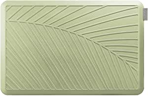NUVA Anti Fatigue Standing Floor Mat 36 x 24 in, NO PVC??? 100% PU Comfort Ergonomic Material, 4 Non-slip PU Elastomer Strips on Bottom, 5 Safety Test by SGS (Lime Green, Palm Pattern)