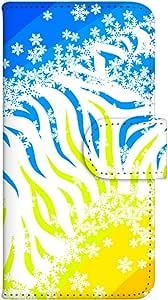 智能手机壳 手册式 对应全部机型 印刷手册 wn-519top 套 手册 动物效果 UV印刷 壳WN-PR293085-M STREAM 201HW 图案C