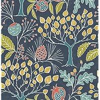 NuWallpaper NU3038 趣味花园*蓝即剥即贴壁纸 多种颜色