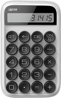 计算器,复古复古计算器 LOFREE 数字机械计算器 标准功能 电子台式计算器 便携式桌面计算器 带大显示屏 古董 白色