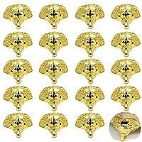 PGMJ 20 件复古设计装饰木盒腿,大象后备箱设计珠宝盒腿五金件用于复古木盒、橱柜、礼品盒、工具盒、珠宝盒、酒盒(金色)