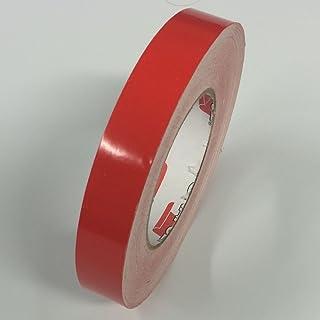 """ORACAL 651 乙烯基细条纹胶带 - 乙烯基细条纹线贴纸,条纹 - 1/4 英寸(约 0.6 厘米),1/2 英寸(约 1.3 厘米),3/4 英寸(约 1.9 厘米) 1/8"""" x 150ft 红色 1/8--011"""
