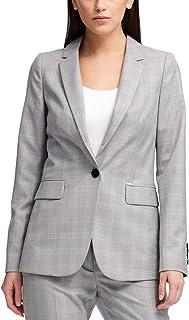 DKNY 女式格子商务单扣外套