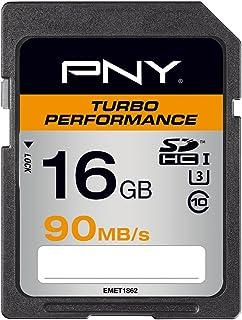 PNY Turbo Performance SDHC Flash Memory Card 16GB Class 10 UHS-1 U1