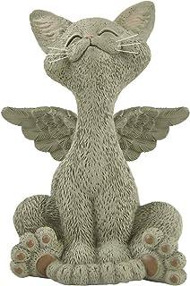 异想天使的驱墓纪念猫天使雕像与天使翅膀猫丢失的同情礼物 - 快乐的猫收藏 - 驱墓礼物,猫纪念品,猫丢失礼物,可爱猫礼物,爱猫人士礼物