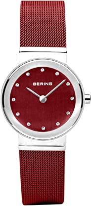 BERING 女士模拟石英手表不锈钢表带 10126-303