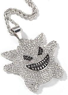 JRjewelry 不锈钢嘻哈闪亮冰雪茄吊坠项链镀金 60.96 厘米绳链