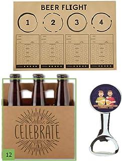 ElevenPlus2 Beer Flight Party Pack:包括啤酒品味餐具垫,庆祝啤酒背带和啤酒伙伴开瓶器