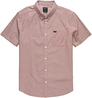 RVCA 男式 Thatll Do Stretch 短袖梭織前紐扣襯衫