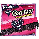 Forum Novelties Divorced Diva Lace Garter Party Favor