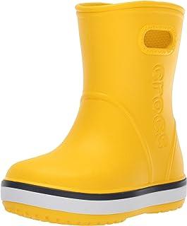 Crocs 中性 Bistro 工作洞鞋 黑色 Crocband Rain Boot Kids'