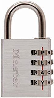 Master Lock Padlock, Set Your Own WORD Combination Lock, 1-9/16 in. Wide, 643DWD
