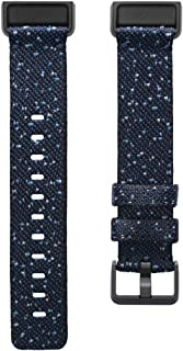 Fitbit Charge4 正品 替换用 woven腕带 Midnight 午夜 L号 FB168WBNVBKL