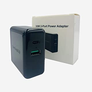 USB C 充电器 36W 2 端口快速充电器 18W 功率输出 3.0 壁式充电器 QC 3.0 可折叠电源适配器 PD 充电器 适用于 iPad Pro Airpods Pro iPhone SE 2020 11 Pro Pixel Galaxy