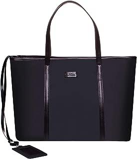 15.6 女式笔记本电脑包,尼龙手提包,单肩包,旅行工作包,带 ID 徽章包