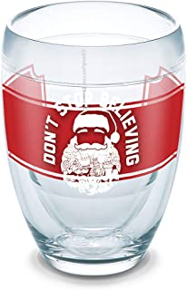 Tervis 1306484 Snorg Tees-Don't Stop Believing Santa 隔热玻璃杯带包装,236.56 毫升无*杯,透明