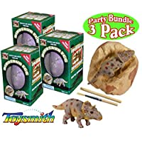 Toysmith 恐龙蛋挖掘套装派对套装 - 3 包(各种)