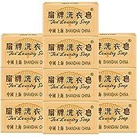 扇牌 洗衣皂透明皂蜡纸肥皂150g*10(亚马逊自营商品, 由供应商配送)