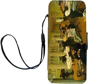 Rikki Knight Edgar Degas Art Cotton Exchange Flip Wallet iPhoneCase with Magnetic Flap for iPhone 5/5s - Cotton Exchange