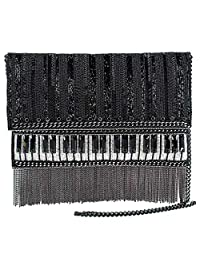 Mary Frances Player 串珠斜挎包钢琴手提包