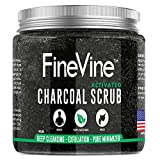 活性炭磨砂膏 �C 美国制造 �C 用于深层清洁、去角质、祛痘*痕、*,减少毛孔和*酸 �C *佳身体磨砂和面部清洁液。