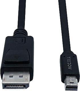 Accell mDP to DP 1.4 - Mini DisplayPort to DisplayPort 版本 1.4 电缆,*高支持 8K@60Hz,7'