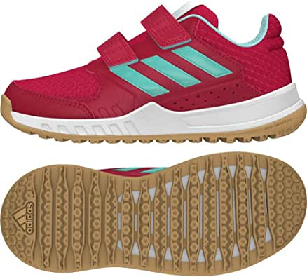 adidas kids 阿迪达斯童鞋 女童 休闲运动鞋FortaGym CF K  CG2680 能量粉 F17/能量浅水蓝 F17/FTWR 白 36 (UK 4)