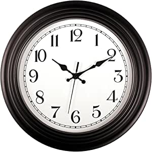 kinger 家用静音 non-ticking roundwall clocks 25.4CM) 装饰复古风格家用厨房/客厅/卧室
