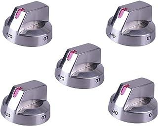5 件装顶部燃烧器控制旋钮微波炉替换不锈钢兼容三星微波炉烤箱煤气炉旋钮DG64-00473A NX58F5700WS NX58H5600SS NX58H5650WS NX58J7750SS
