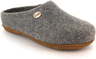 WoolFit 经典款 - 中性毛毡拖鞋,7 毫米可拆卸毛毡鞋垫   * 天然可持续   环保皮革鞋底 浅灰色 11 Women/9 Men