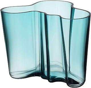 Iittala Alvar Aalto 玻璃花瓶 160 毫米 海蓝色