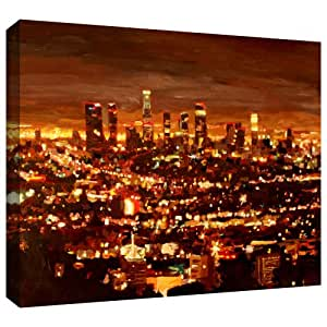 ArtWall Martina and Markus Bleichner 'City of Angels' Gallery-Wrapped Canvas Artwork, 24 by 36-Inch