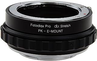 Fotodiox DLX 伸缩镜头安装适配器 - Pentax K 支架(PK)SLR 镜头到索尼 Alpha E 支架无镜像相机机身,带微距焦 Helicoid 和磁性插入过滤器