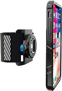 Greallthy 手机臂带适用于 iPhone 8 Plus 的坚固防震外壳,易于安装,内置反射条纹,运动臂带适合户外慢跑自行车运动 for iPhone X