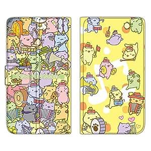 みっちり 猫手机壳翻盖式薄款印花翻盖 みっちり 猫玛驰  みっちりねこマーチB 10_ Disney Mobile on docomo DM-01G