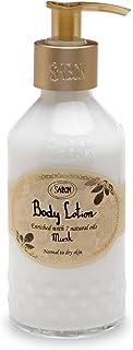 SABON 萨邦 - 天然身体乳 - 死海护肤 - 富含7种天然油脂 - 不含SLS和防腐剂 - 200毫升 - 中性至干性皮肤 - 麝香