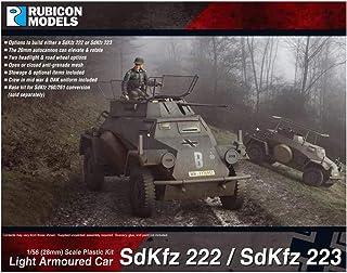 鲁比康模型 1/56 德国军 Sd.kfz.222/223 轻装甲车 塑料模型 RB0062