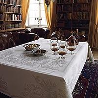 瑞典Ekelund欧式棉亚麻桌布 北欧田园提花白色长方形餐台布桌垫 (桌布150*230cm, 狩猎桌布)